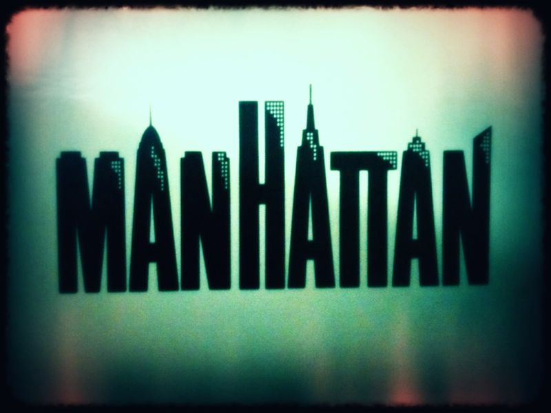 "I'm officially a record collector, since I now have a nice little record player… This is ""Manhattan"" by Gershwin."