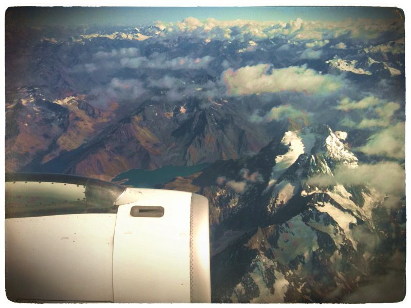 Crossing the Andes back to the land I love. In the past three days I've traveled more than 10,000 miles. Pretty tiring to think of…