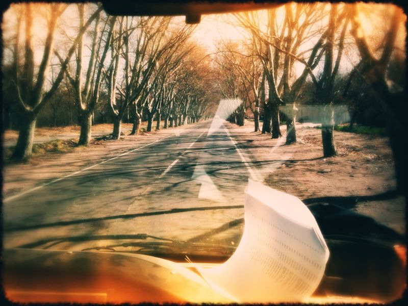 Driving around the Argentine countryside. We actually had to push start our van this evening, somebody left the door open ; )