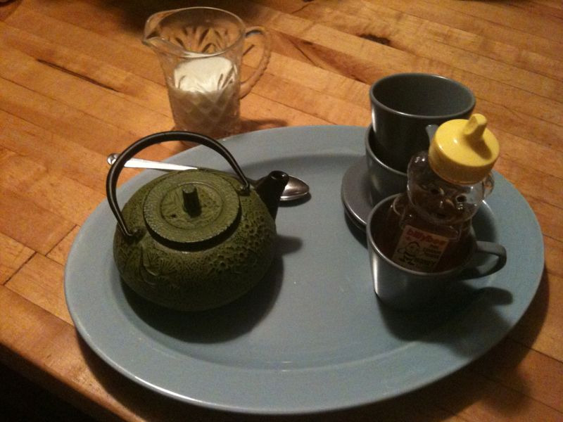 A tea platter is a necessary part to any late night songwriting session ; )