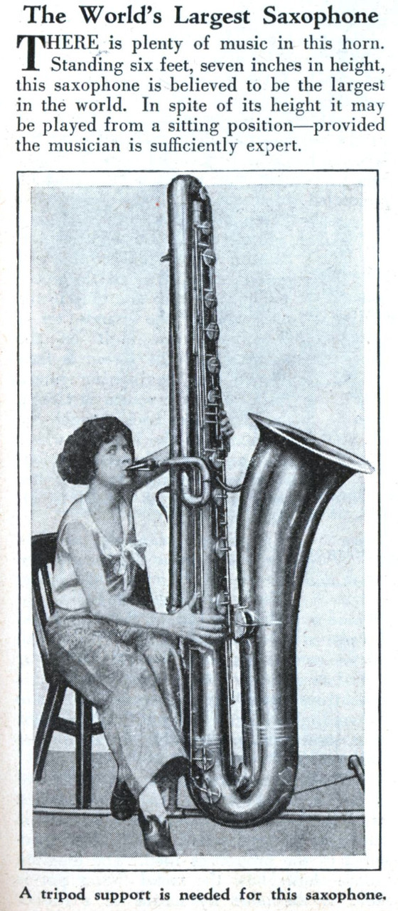 Random Post #3421   The contrabass saxophone - imagine trying to fit this on a plane ; )