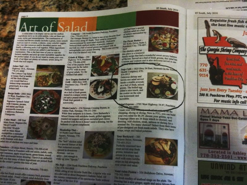 One of our salads was featured in a local magazine. As they say, we're movin' on up.