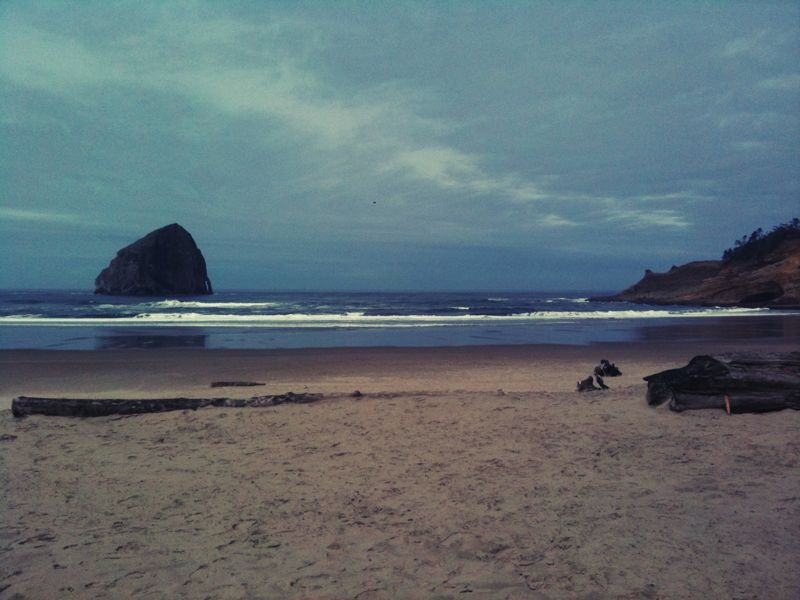 The gorgeous Oregon coast, if only it was warmer.