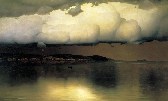 Silence  by Nikolay Nikanorovich Dubovskoy, 1890   The style of this painting is so unique. I'm a likin' it.