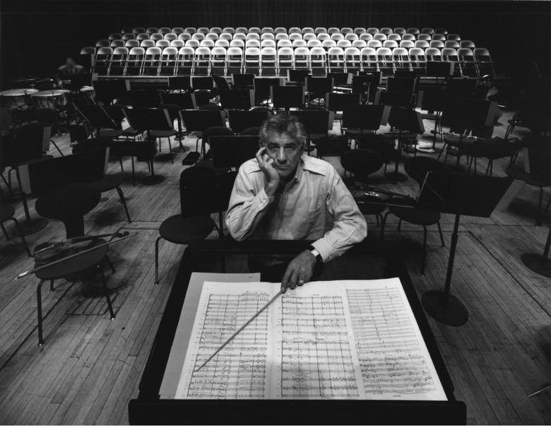 Leonard Bernstein in Philharmonic Hall, NY