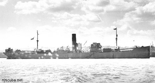 Arundo - Type: Freighter, NetherlandsBuilt: 1930, New Castle England, as PetersfieldSpecs: (412 x 55 ft) 5163 gross tons, 43 crewSunk: Tuesday April 28, 1942torpedoed by U-136 - 6 casualtiesDepth: 140 ft max; 110 ft min; 125 ft typical