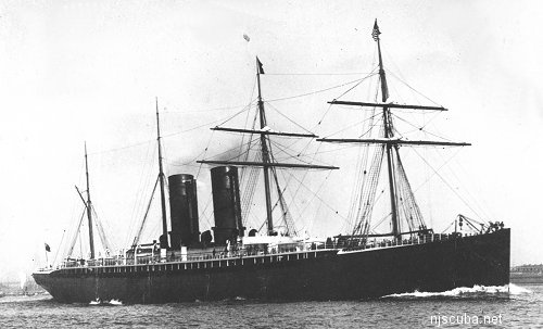 Oregon - Type: Liner, Cunard Line, EnglandBuilt: 1881, ScotlandSpecs: (518 x 54 ft) 7500 gross tons, 845 passengers & crewSunk: Monday March 14, 1886 collision, probably with schooner Charles R Morse - no casualtiesDepth: 125 ft, highest point 85 ft