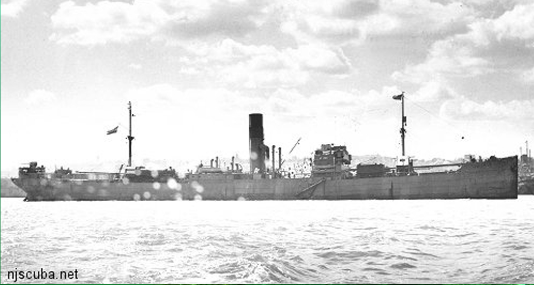Arundo - Type: Freighter, NetherlandsBuilt: 1930, New Castle England, as PetersfieldSpecs: (412 x 55 ft) 5163 gross tons, 43 crewSunk: Tuesday April 28, 1942 torpedoed by U-136 - 6 casualtiesDepth: 140 ft max; 110 ft min; 125 ft typical