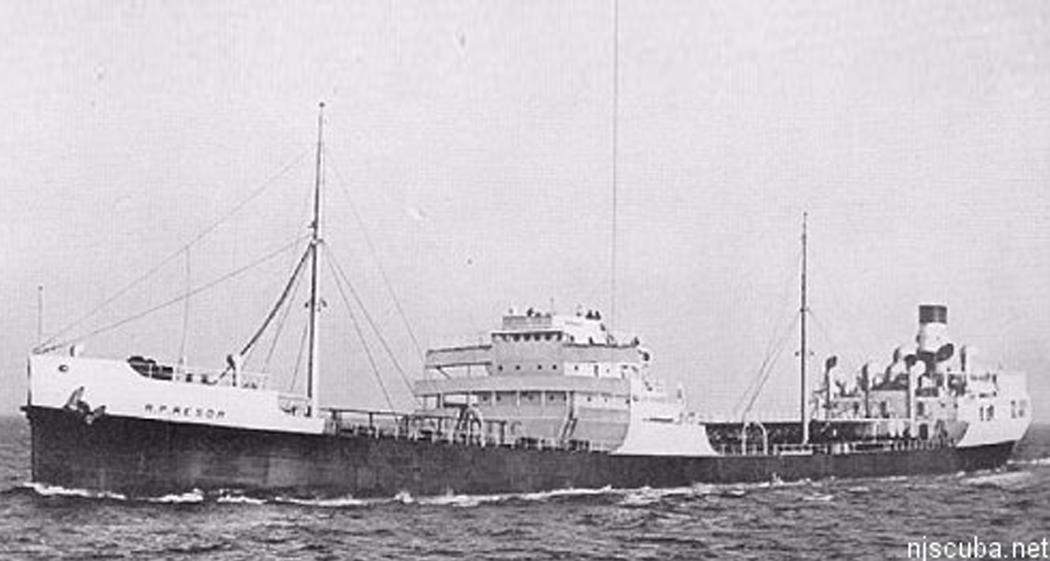 R.P. Resor - Type: Tanker, USAName: Named for R P Resor, Treasurer of Standard Oil.Built: 1936, Kearny NJ USASpecs: (435 x 66 ft) 7451 gross tons, 49 crewSunk: Friday February 28, 1942 torpedoed by U-578 - 2 survivorsDepth: 125 ft