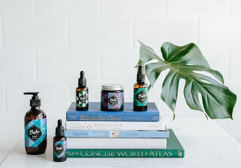 Some of the products in the Babs Bodycare range