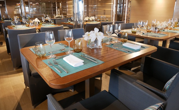 Less formal dining in Pythéas on Deck 6