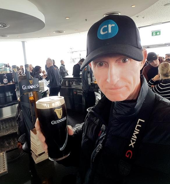 Enjoying a pint of Guinness in Dublin