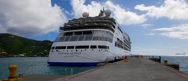 Silver Spirit Docked in Road Town