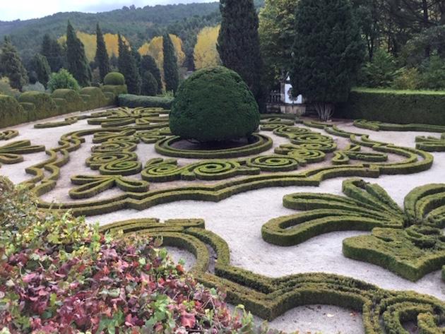 The gardens at Mateus Palace.
