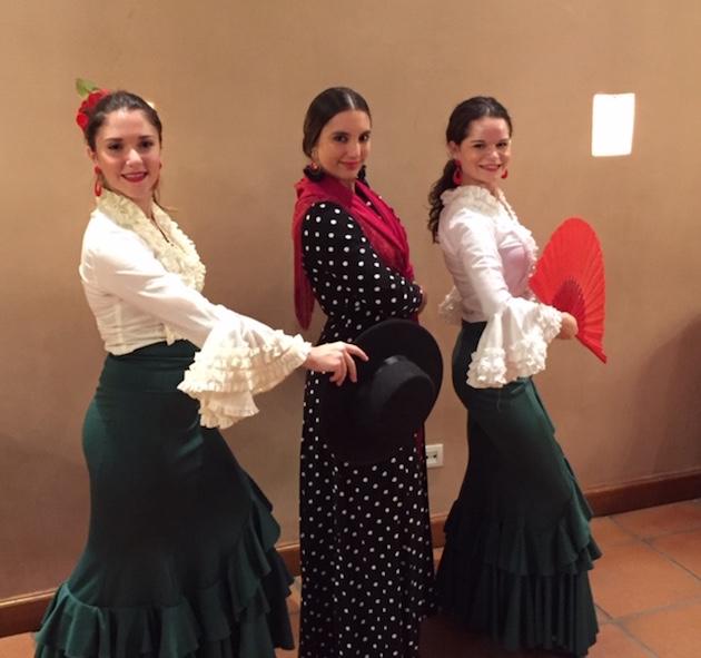 Lunchtime entertainment. Flamenco Dancers.