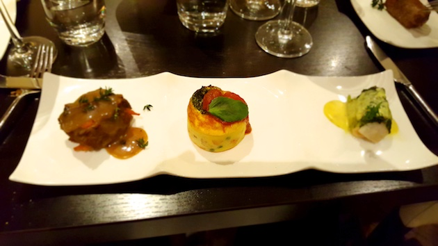 One of the courses served at The Bistro