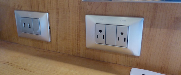 Electrical and USB Outlets | Carnival Vista | CruiseReport