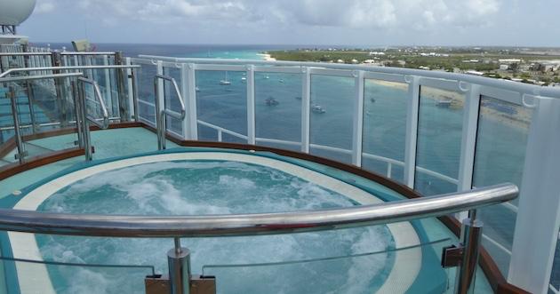 hot tubs at serenity | Carnival Vista | CruiseReport