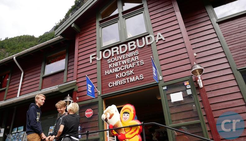 Souvenir shop in Geiranger