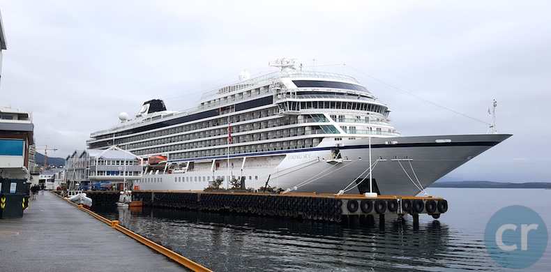 Viking Sky docked in Molde, Norway