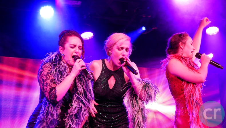 Elora, Alexandra and Katherine show off their vocal skills in Les Artistes de Paris