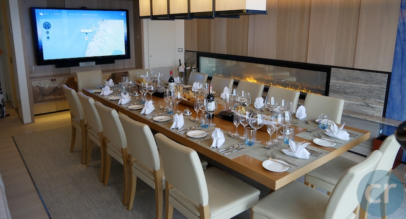 Owner's Suite dining/conference room