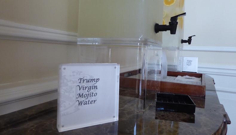 Trump Virgin Mojito Water | Trump National Doral - Miami | CruiseReport