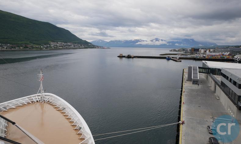 Viking Sky docked in Tromsø, Norway