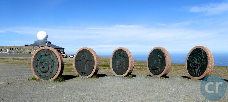 Circular stone carvings