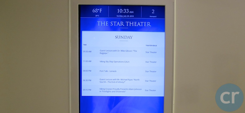 Daily schedule posted outside of Star Theater