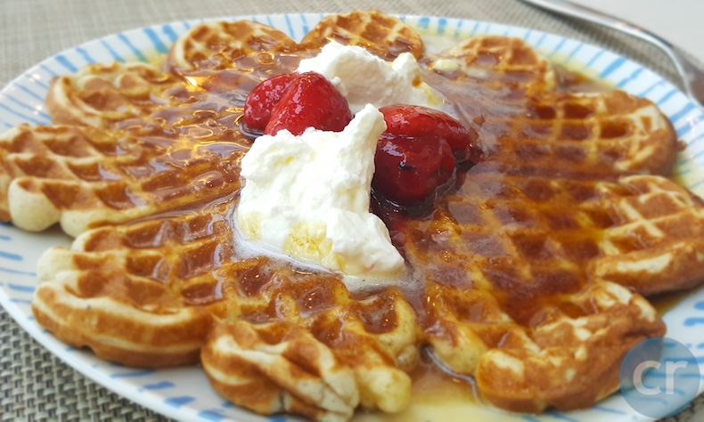 Rickee's dinner: a fresh made-to-order waffle
