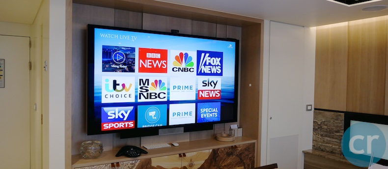 Television in conference room