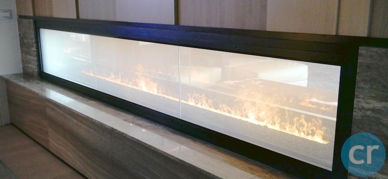 Vapor-light fireplace