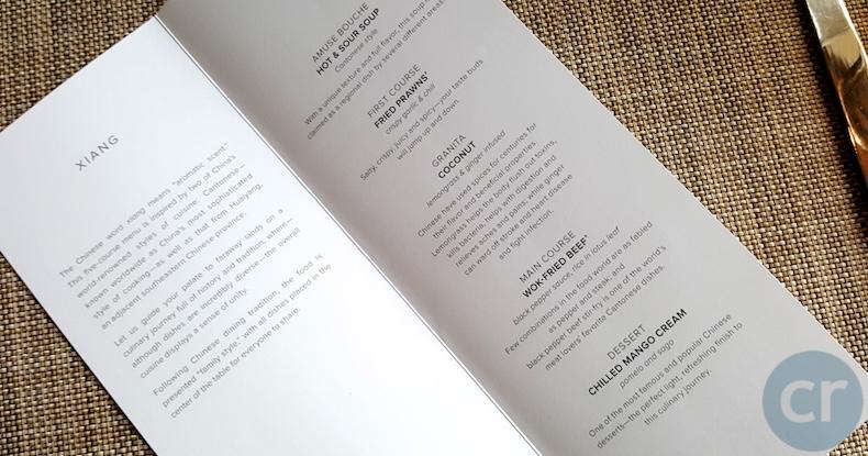 Xiang menu