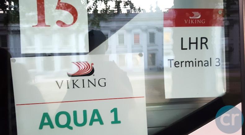Viking Ocean motorcoach to airport in London | CruiseReport
