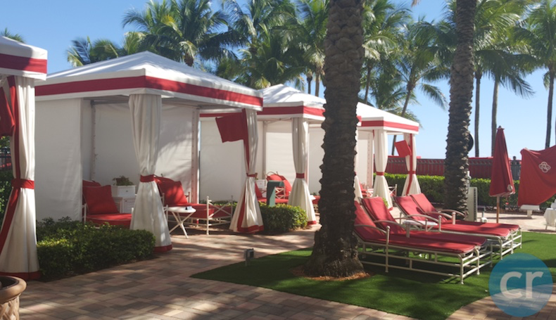 Cabanas and loungers