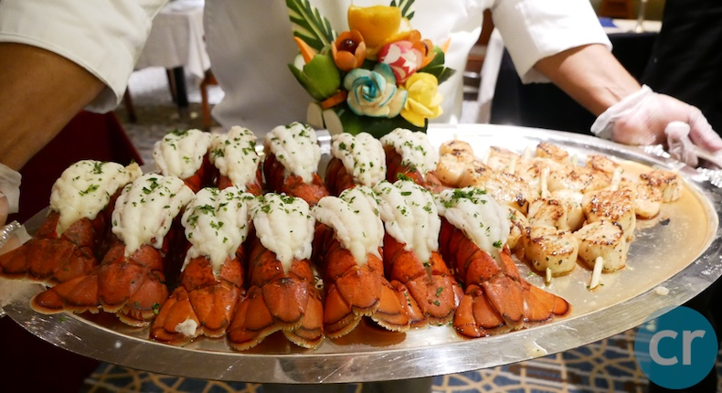 Lobster tails and Sea Scallops
