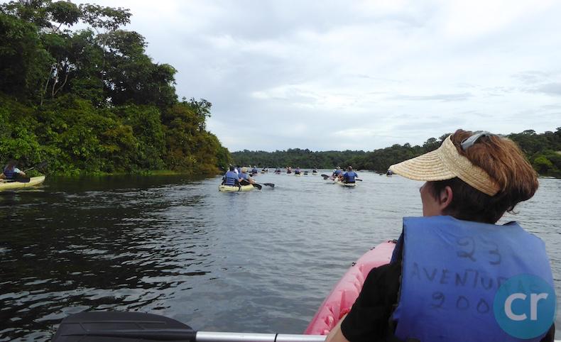 Kayaking in the Panama Canal    CruiseReport