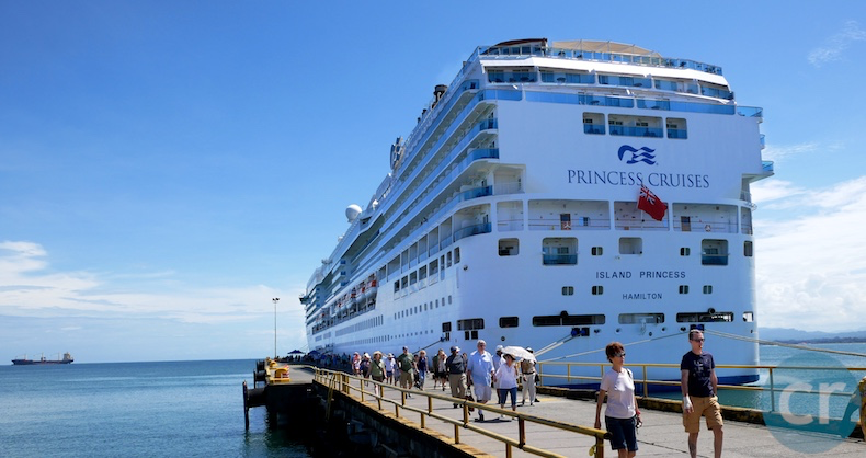 Island Princess docked in Limón