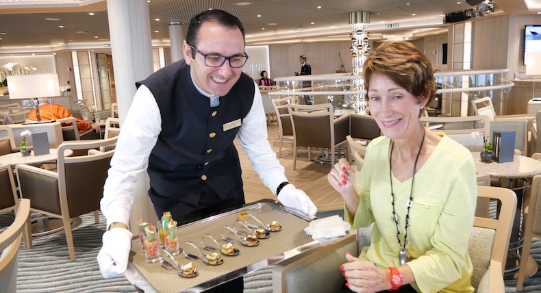 I wanted to show the hors d'oeuvres served at Cocktail Hour on Silversea Silver Muse