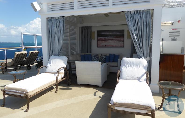 Cabana at The Sanctuary on Island Princess | Island Princess | CruiseReport