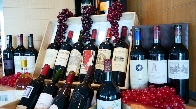 Excellent wines are offered at lunch and dinner