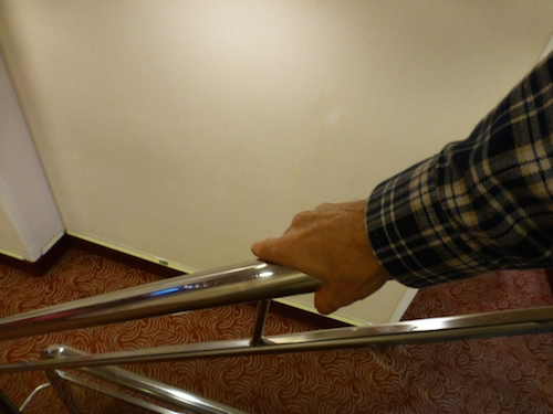 Use a tissue or a shirt sleeve when grabbing the handrails | CruiseReport