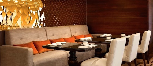 Comfortable seating in the InterContinental Club Lounge