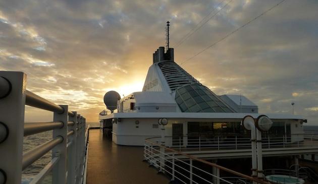 Sunset aboard Silver Spirit