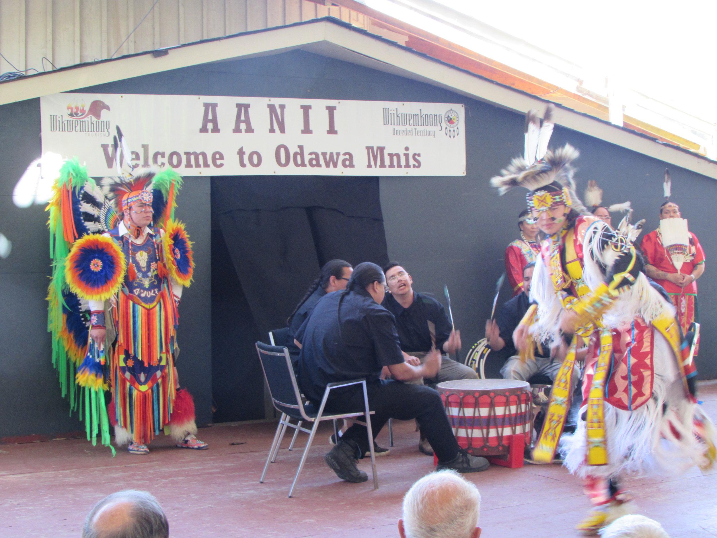 Drumming, Singing and Native Dancing
