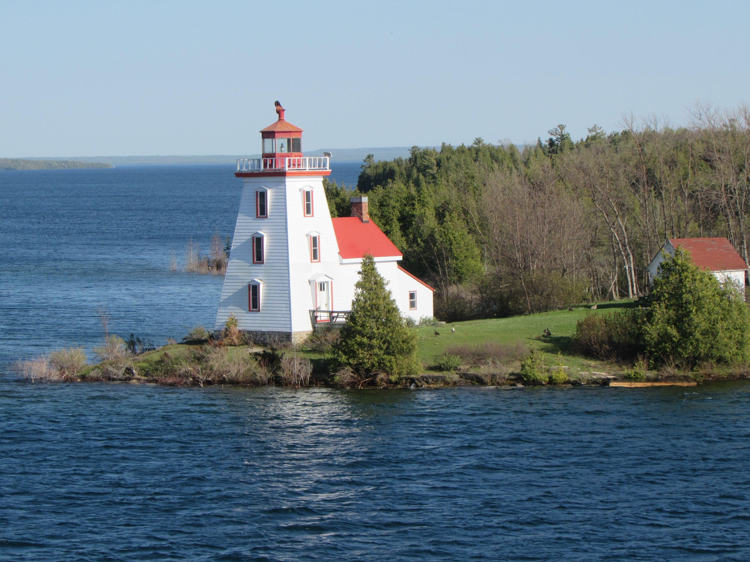 Strawberry Island Lighthouse.