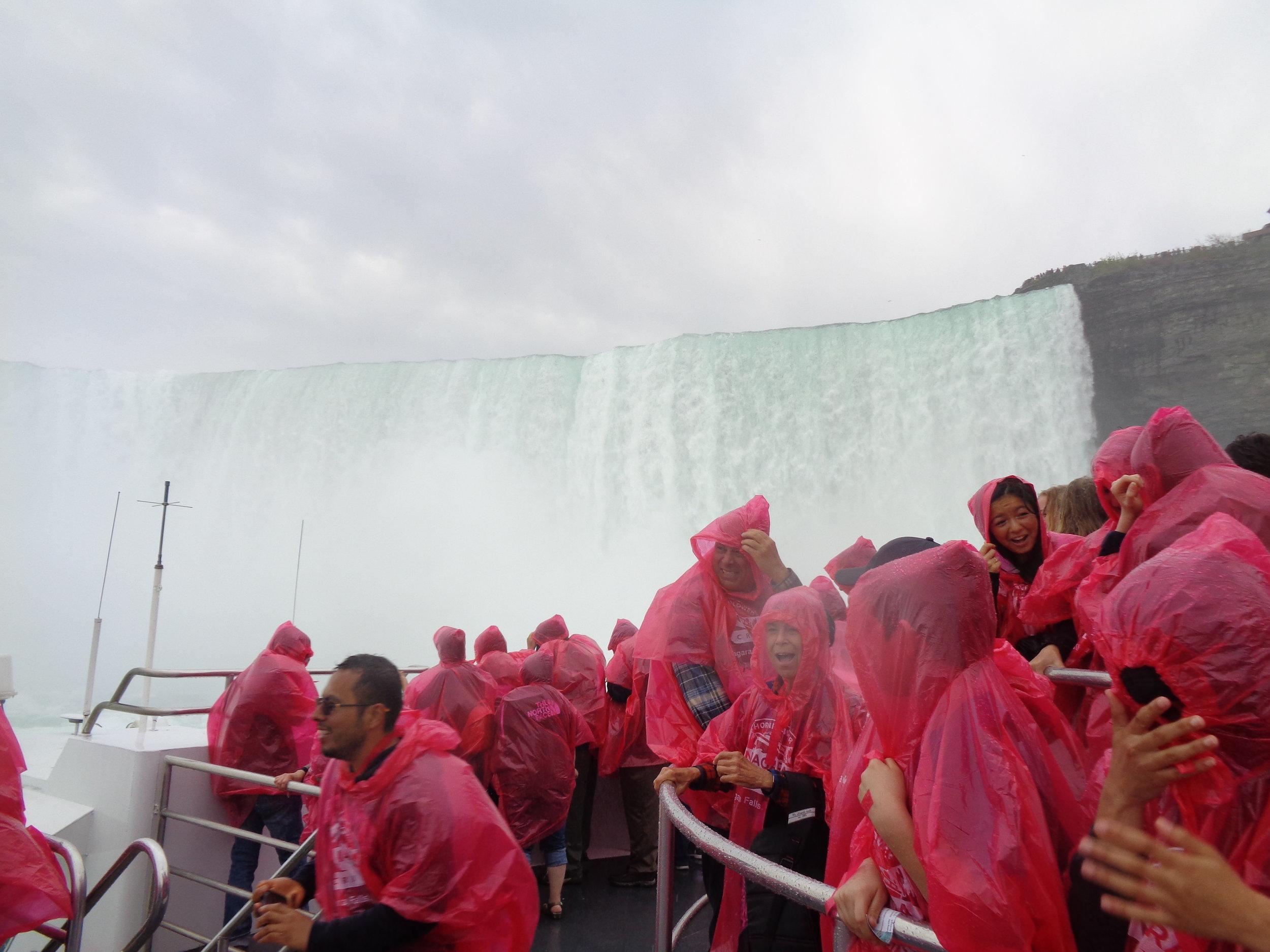 Wet...and loving it. Niagara Falls.