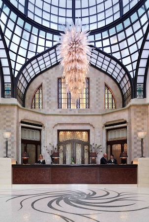 The spectacular lobby and reception
