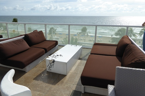 The outside deck of The Living Room